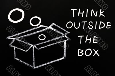 Concept of `Think outside the box`