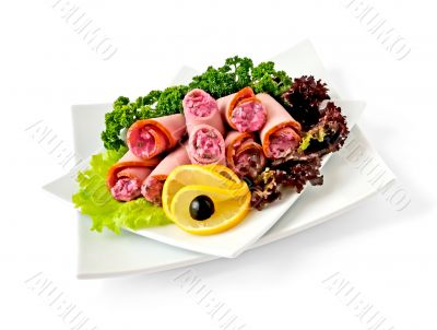 Ham roll with horseradish