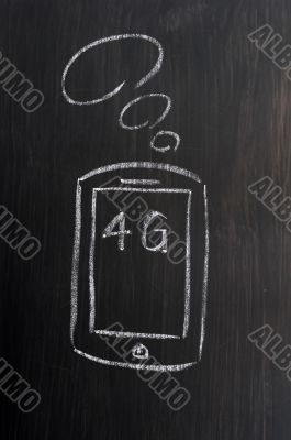 Mobile phone and 4G concept