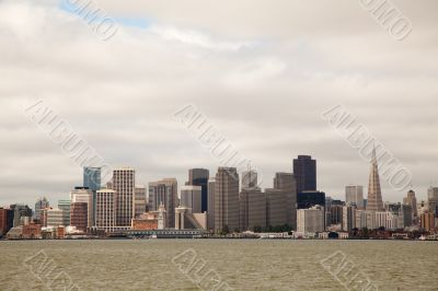 Downtown of San Francisco as seen from seeside