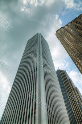 Skyscrapers in the downtown Chicago, Illinois