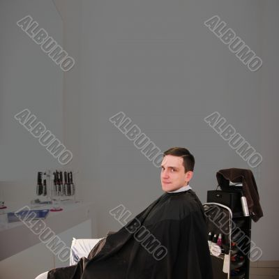 man in the barber salon