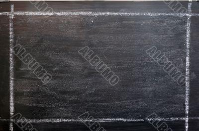 Chalkboard background with a chalk drawing frame