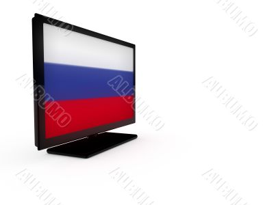 LCD TV with flag of Russia