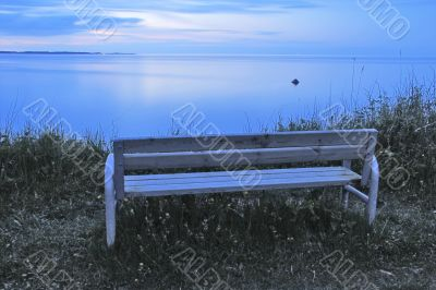 Bench - View from Eckernförde to the Baltic Sea