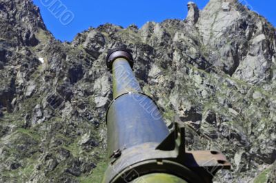Weather gun between the mountains of North Osetia