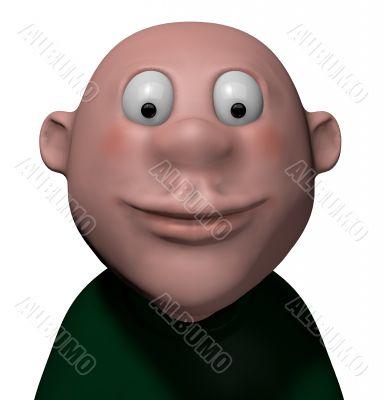 smiling cartoon boy