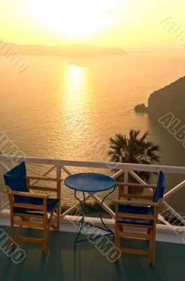 Idyllic balcony