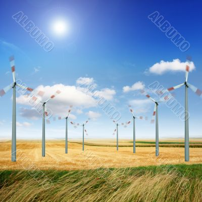 Wind turbines energy