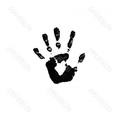 Black imprint of a hand
