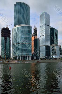 Moscow City buildings.