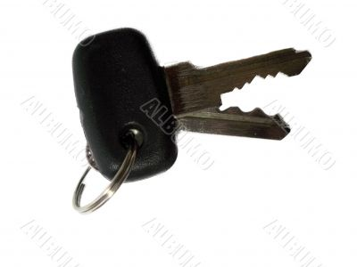 Keys for starting auto isolated on the white background