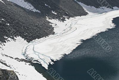 Glacier in spring