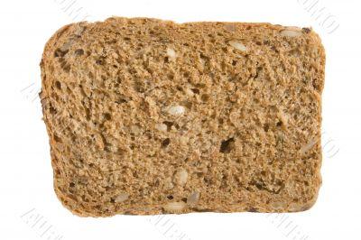 A piece of 7-grain bread