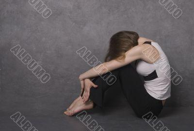 Sad woman, studio shot