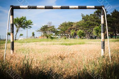 Abandoned soccer field