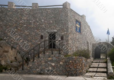 Monastery stone wall and entrance