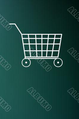 Chalk drawing of shopping cart
