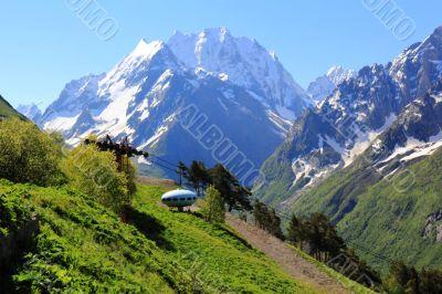 UFO in Caucasus mountains Dombai