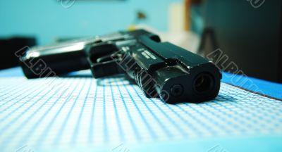 gun on the table