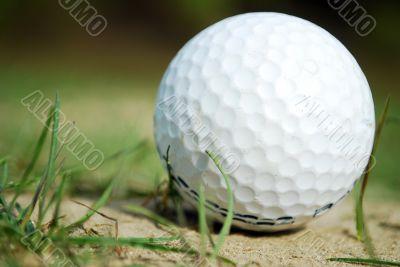 Golf ball near the green