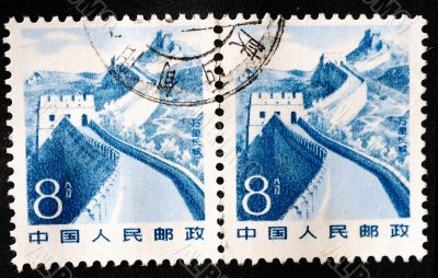 CHINA - CIRCA 1983: A stamp printed in China shows the great wal