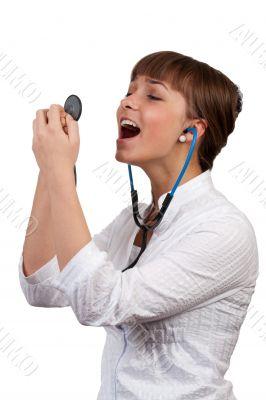 beautiful young woman doctor