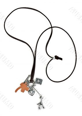 necklace with leather strap