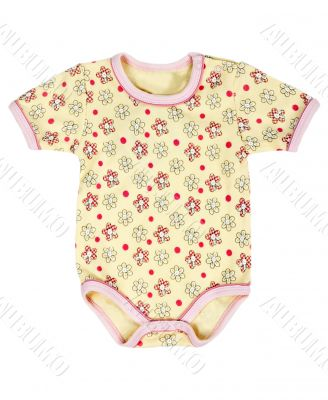 Children`s T-shirt in yellow floral pattern