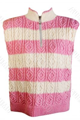 striped pattern knitted sweater