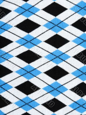 Background from knitted plaid fabrics