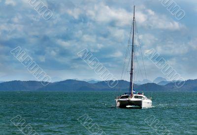white catamaran