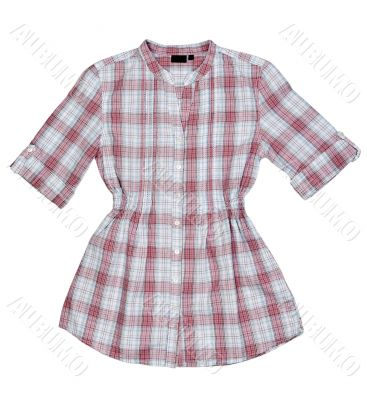 Pink summer shirt with short sleeves