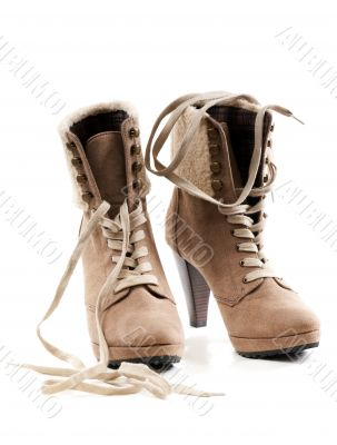 pair of women`s shoes