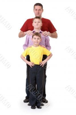 Dad and two sons