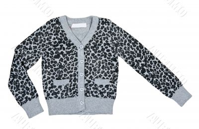gray mottled sweater