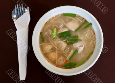 Thai soup dish with meat
