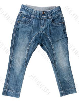 blue denim trousers