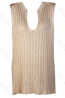 Beige knitted vest