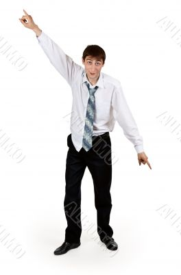 drunk businessman with ragged clothes