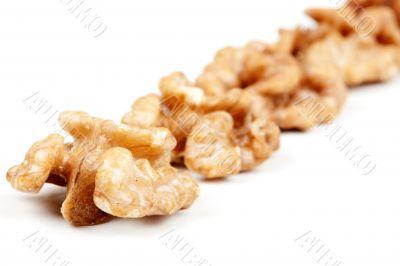 halves peeled walnuts
