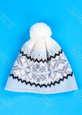 knitted wool hat with the pattern