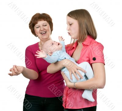 grandmother and mother baby