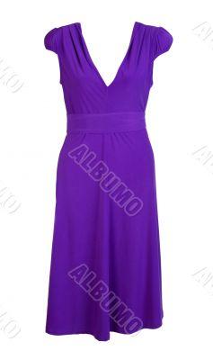 purple women`s dress