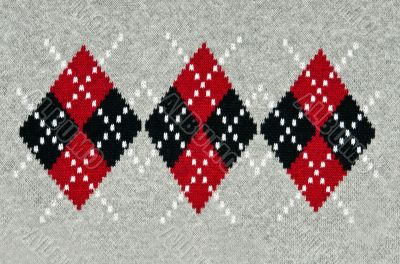 knitted gray background with a pattern