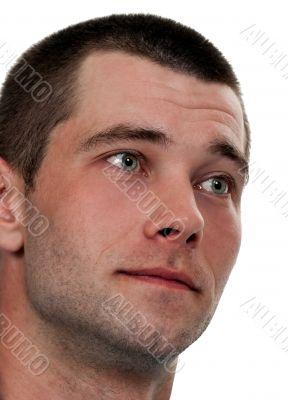 portrait of pensive looking unshaven men