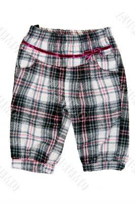 children`s checkered pants