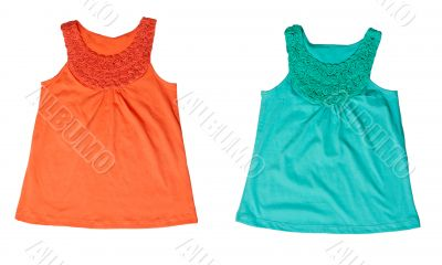 Collage Green and orange Women`s T-shirt