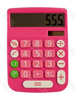 glamorous pink calculator