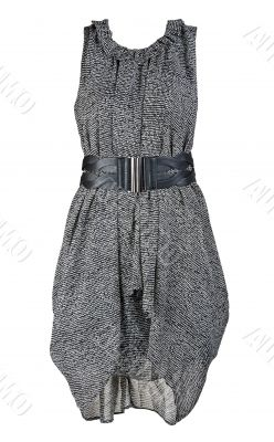 gray and stylish women`s dress